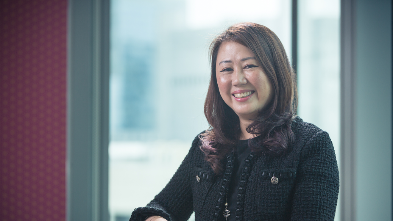 Livian Soo, Global Director and Head of the Marketing Response Centre at AWS, at the Singapore office