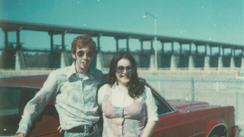 Vintage photograph of a married man and women from more than 30 years ago