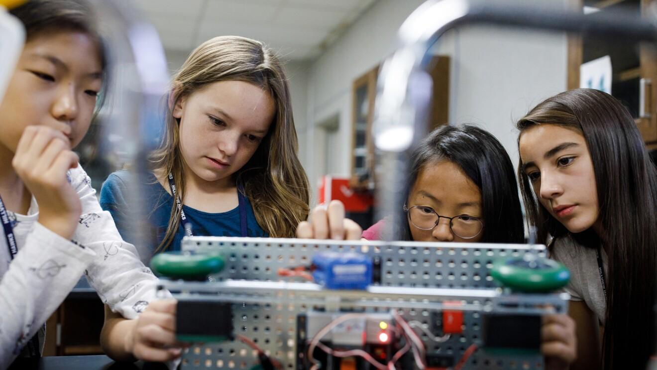 Students learn about STEM