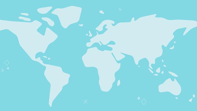An illustration of an international map.
