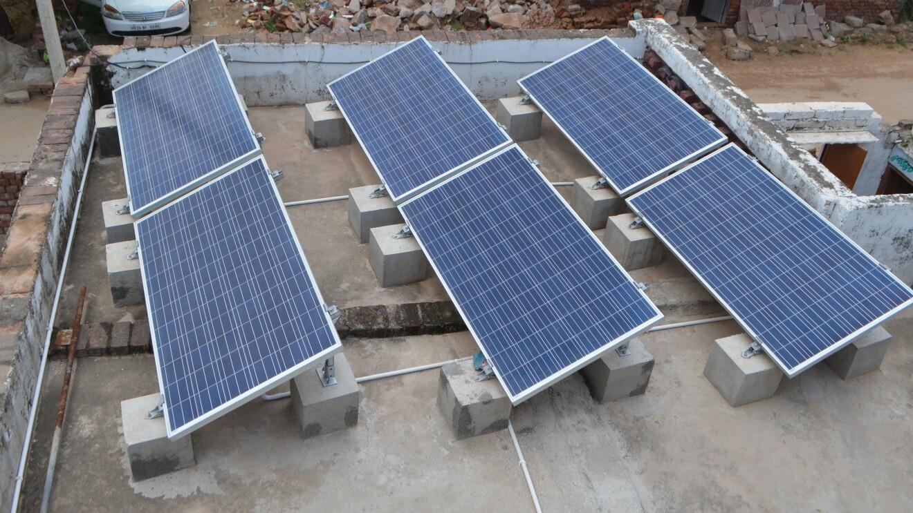Solar panel at Community centre