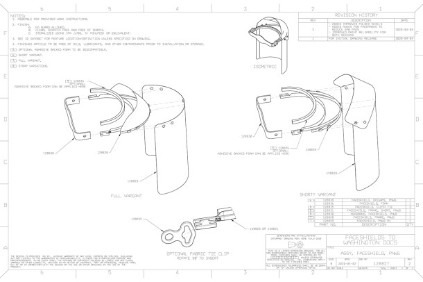 A cad design of a PPE face shield for medical professionals