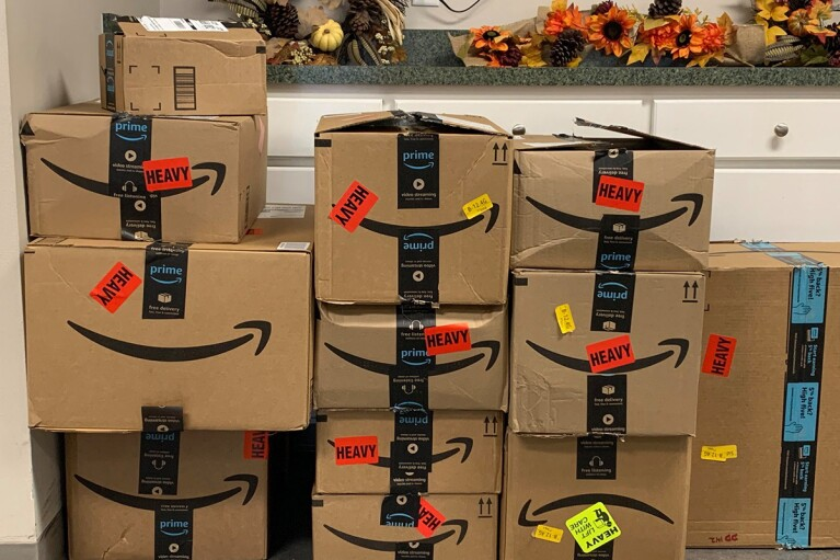 Organization receiving donated items from Amazon