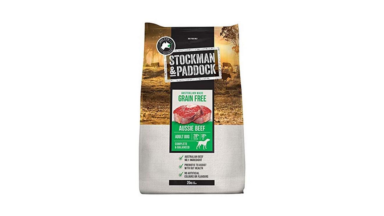Stockman & Paddock Grain-Free Dog Food made with Australian beef