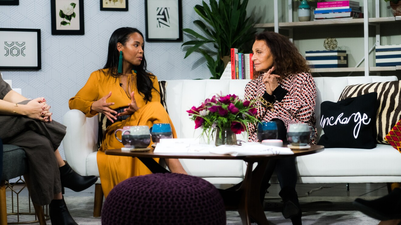 Diane von Furstenberg meets with women small business owners