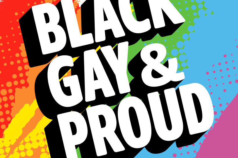 Logo of the London Pride playlist 'Black, Gay, and Proud'