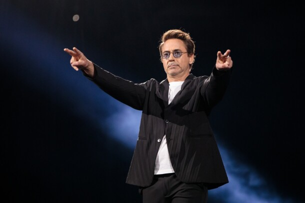 Robert Downey Jr. on stage at re:MARS