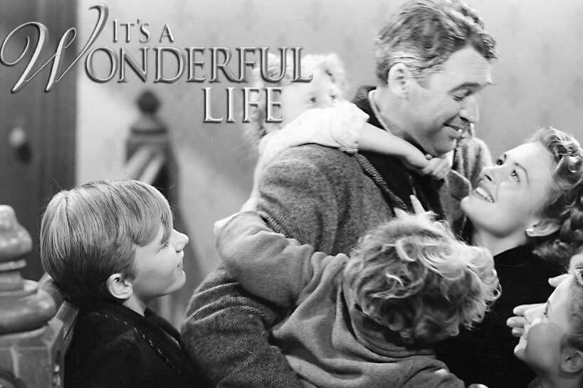 Black and white still from It's a Wonderful Life