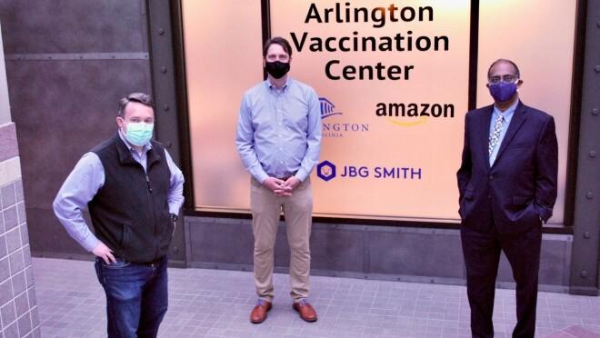 Amazon opens COVID-19 vaccine center in HQ2 location of Arlington, Virginia