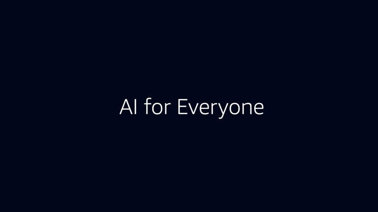 """A black background with white text that says """"AI for Everyone"""""""