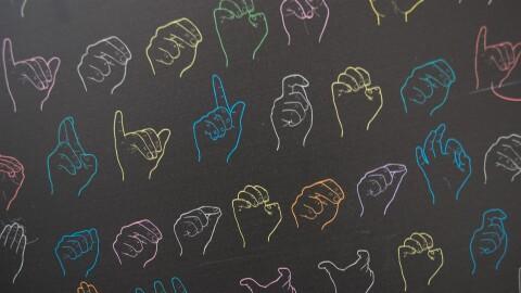 Deaf and dumb sign languages image