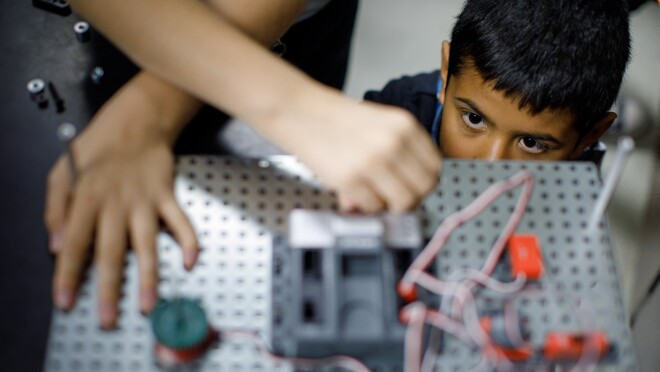 A student learns about STEM