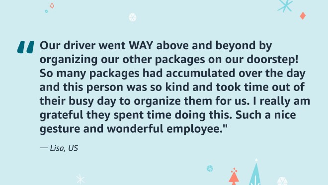 A quote from an Amazon customer.