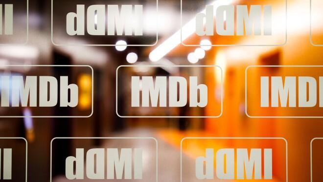 IMDb office - branding on window, elevator bay 2000 x 1333