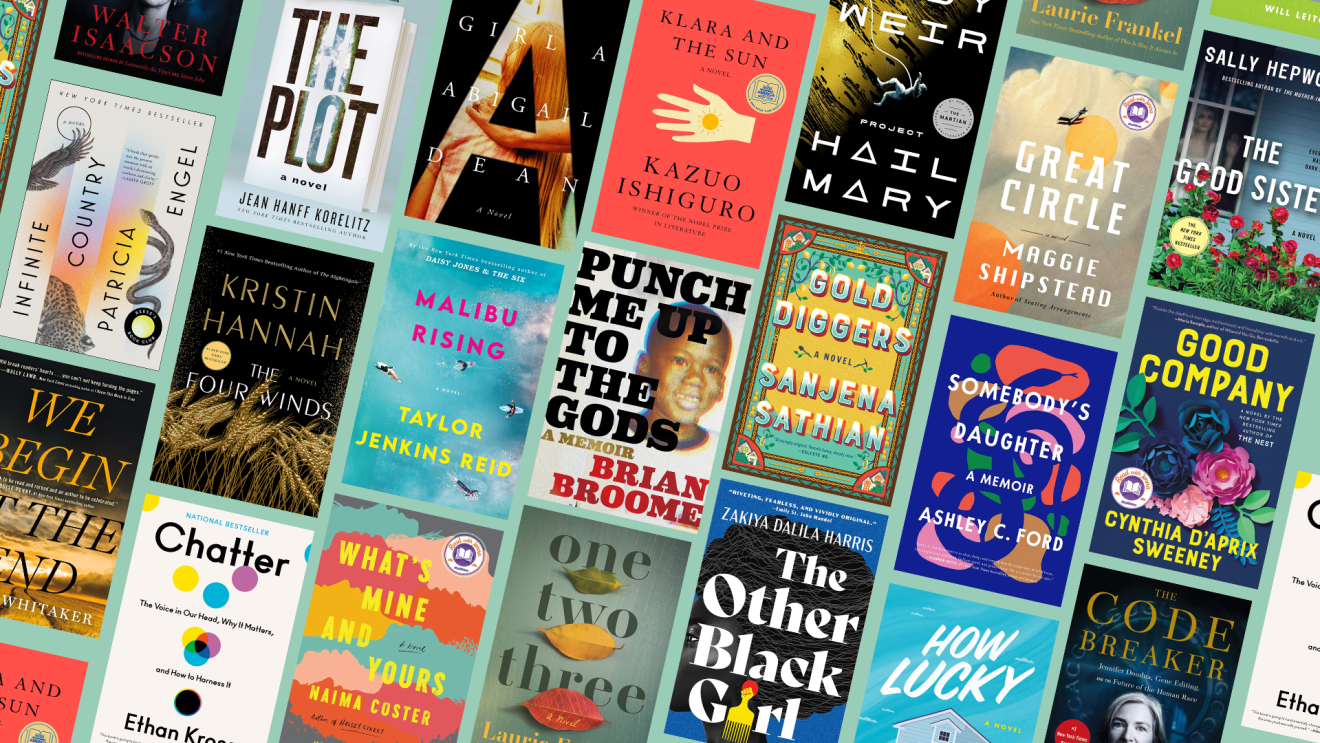 An image of book covers that show some of the best books of the year so far (full list below).
