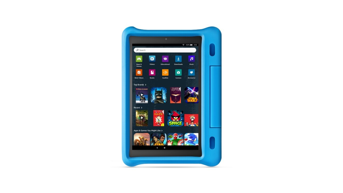 A photo of the new kids theme option on the Amazon Fire Tablet Kids Edition