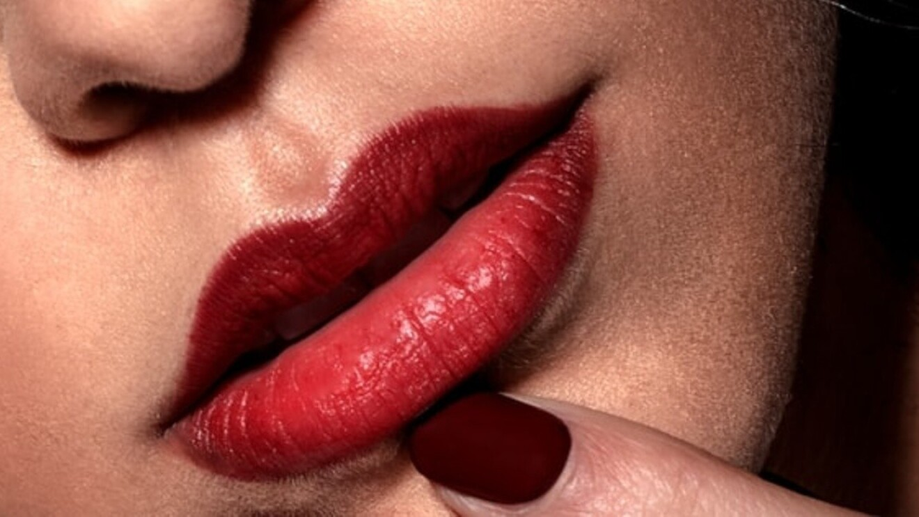Lip with Lipstick image