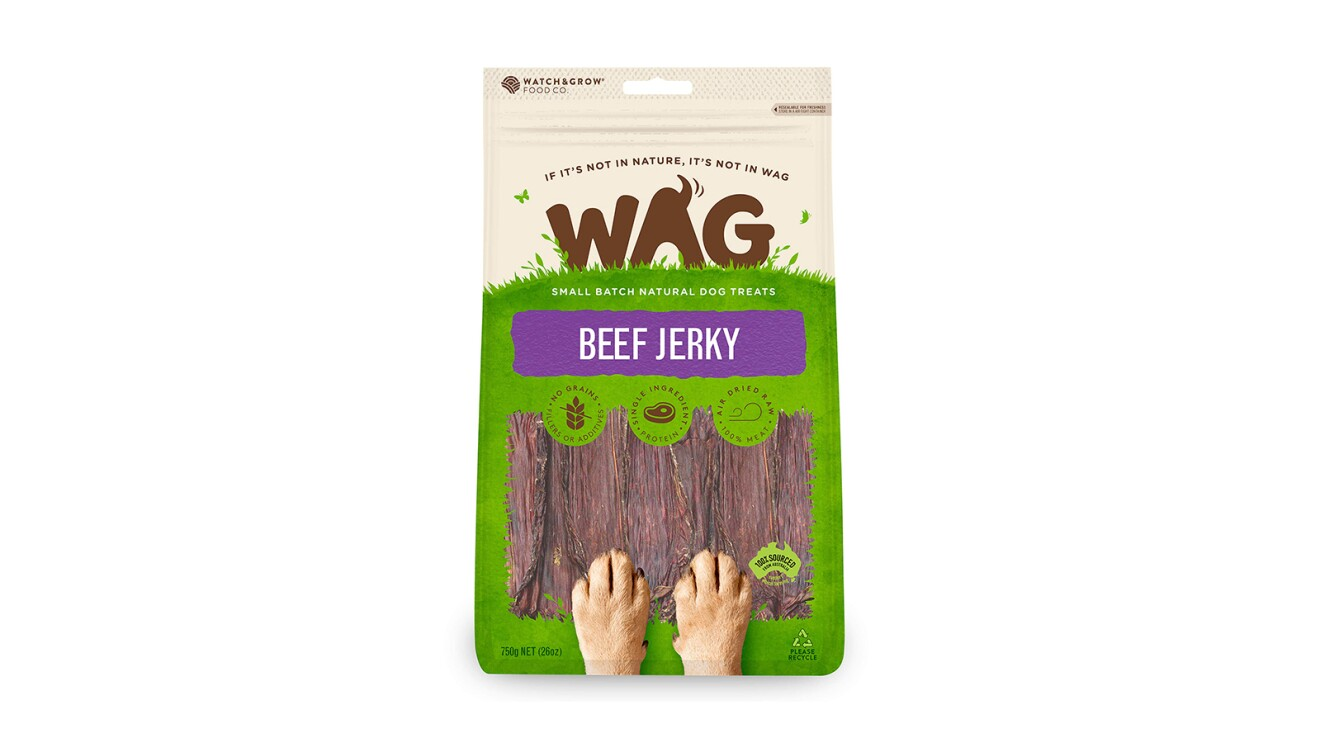 Wag Grain-Free Beef Jerky Wholesome, All-Natural Dog Treats
