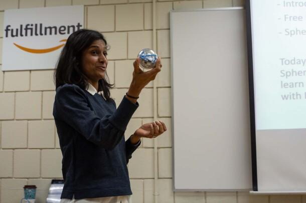 Cleveland, Ohio STEM workshop at Amazon fulfillment center