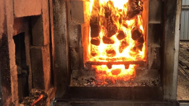 手作りの薪ボイラー