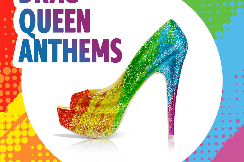 Logo of the London Pride playlist 'Drag Queen anthems'
