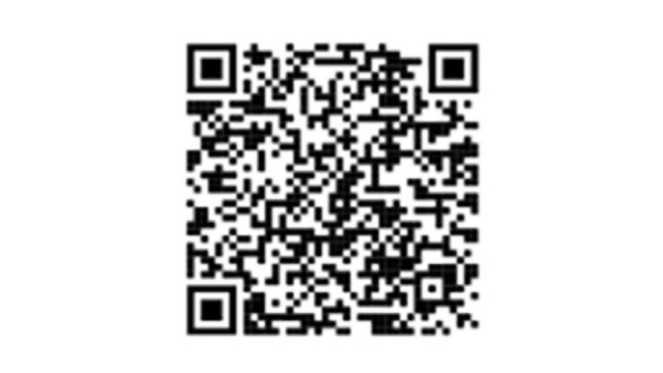A QR code that allows Amazon customers to scan, and teach new routines to their Alexa-enabled device