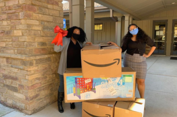 Influencers participating in Amazon's Delivering Smiles charitable initiatives.