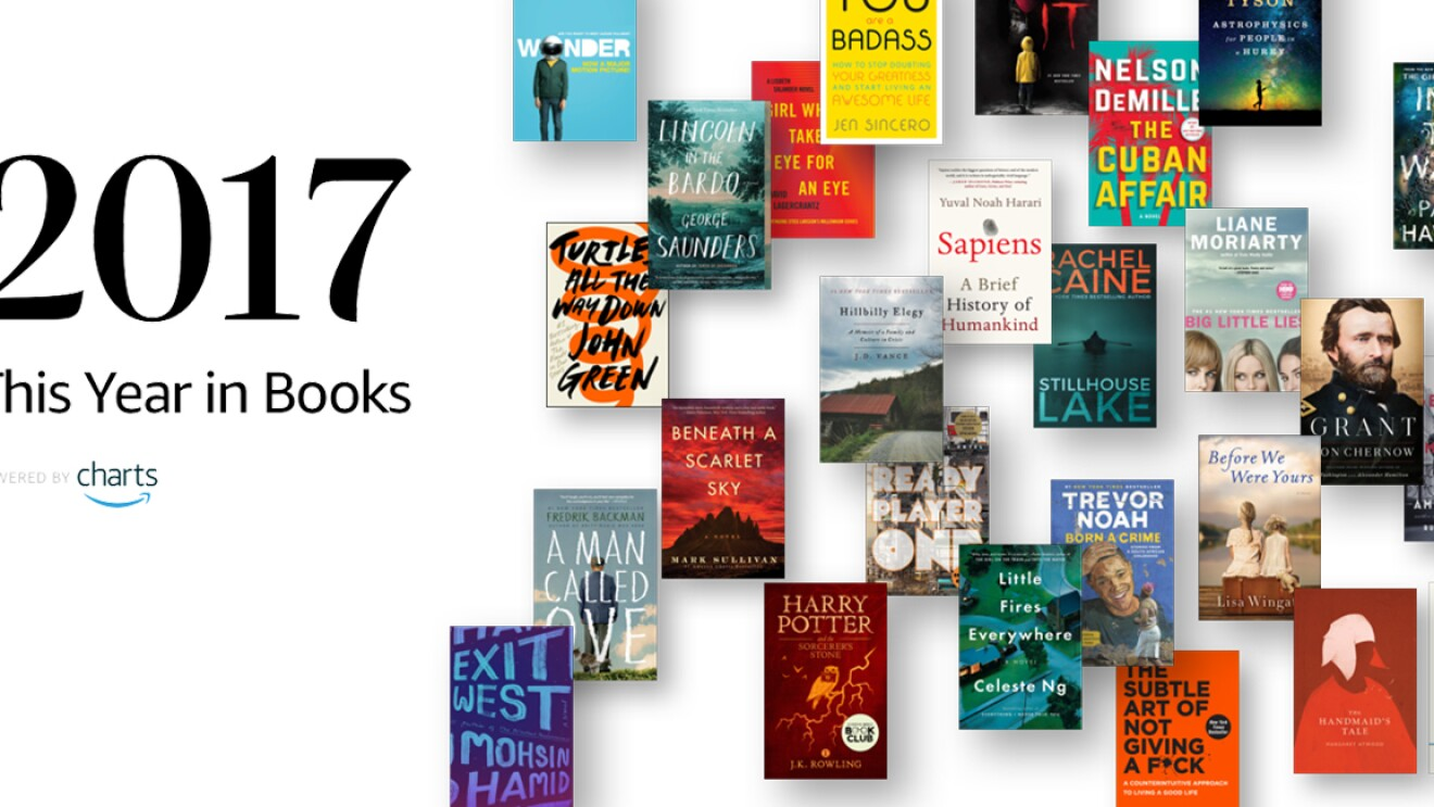 2017 This Year in Books: The covers of many of the year's best books cascade down the page