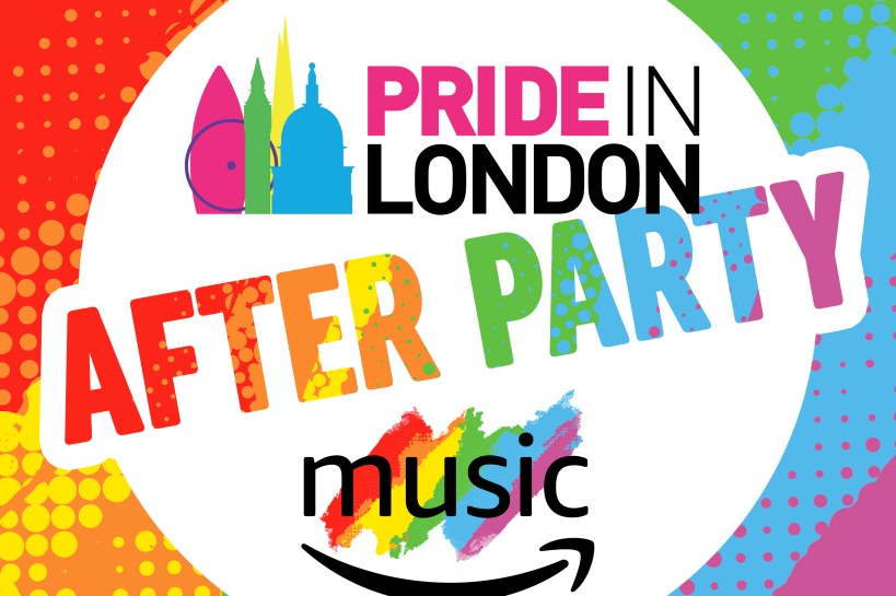 Logo of the London Pride playlist 'After Party'