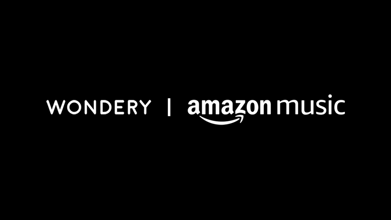 "Black background with white text that says ""WONDERY 
