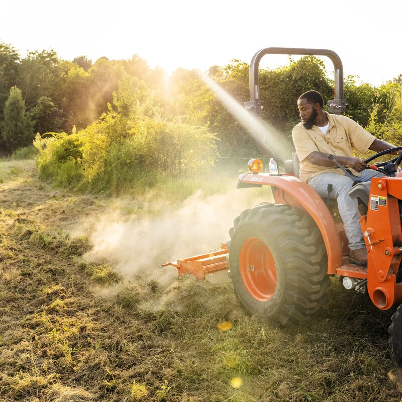 Juwan Page, a man who works at Amazon and also runs his family's multi-generational farm in Mississippi
