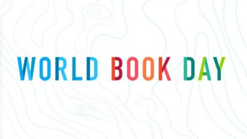Illustration for World Book Day, which occurs on 23 April in 2021.