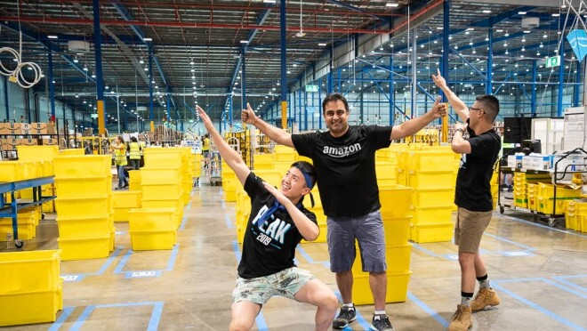 Amazon associates at Australia fullfillment center