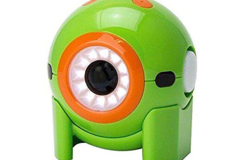 A green and orange Wonder Workshop robot