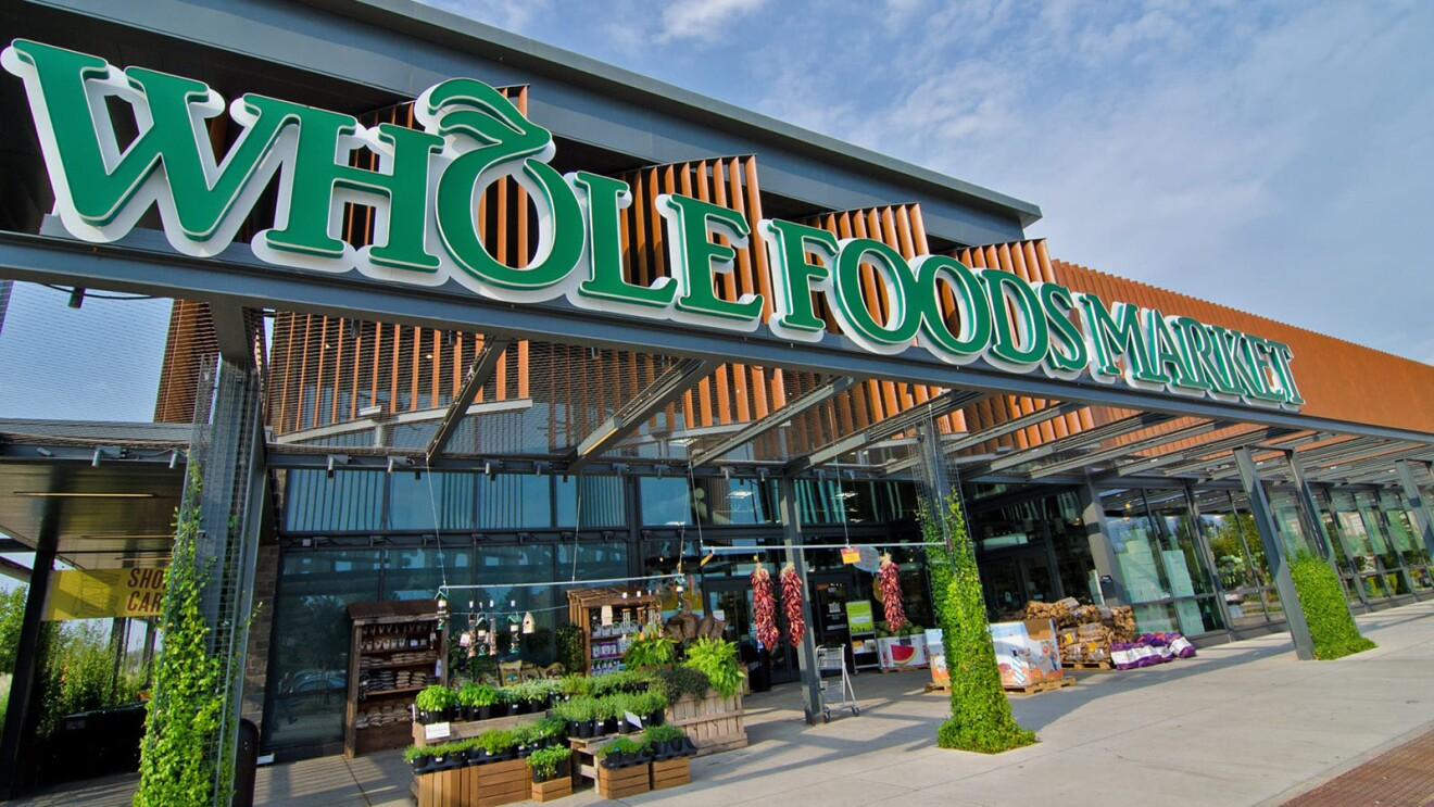 An image of the outside of a Whole Foods Market store.