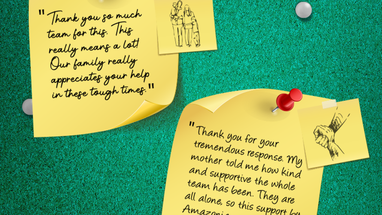 Messages of gratitude