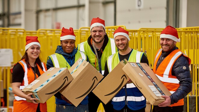 Amazon associates from our Leeds fulfillment center