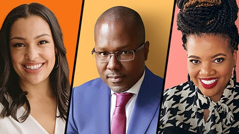 "A composite of three individuals—a woman, man, and woman who have been identified as ""up-and-coming entrepreneurs and innovators in the Black community."