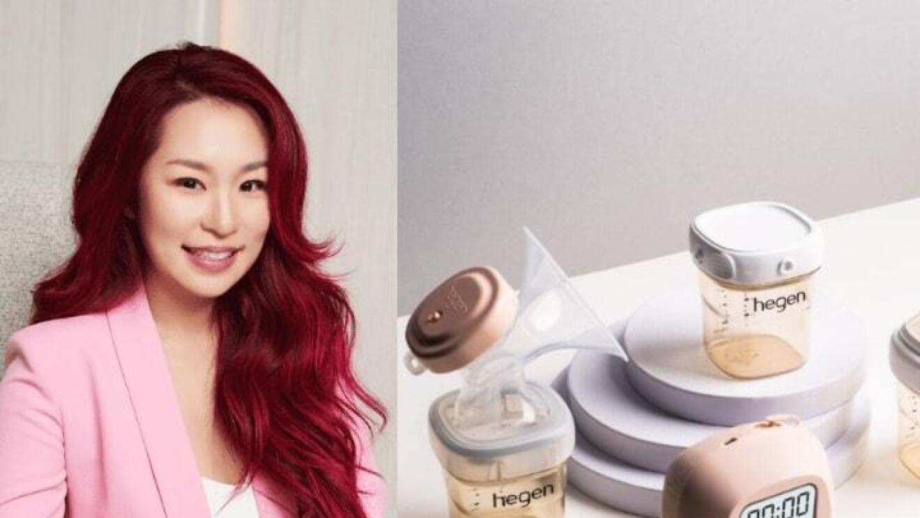 Hegen's brand owner alongside her brand's products