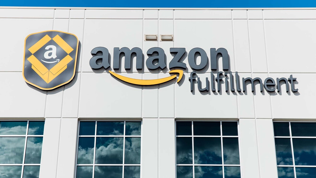 Exterior view of an Amazon fulfillment center