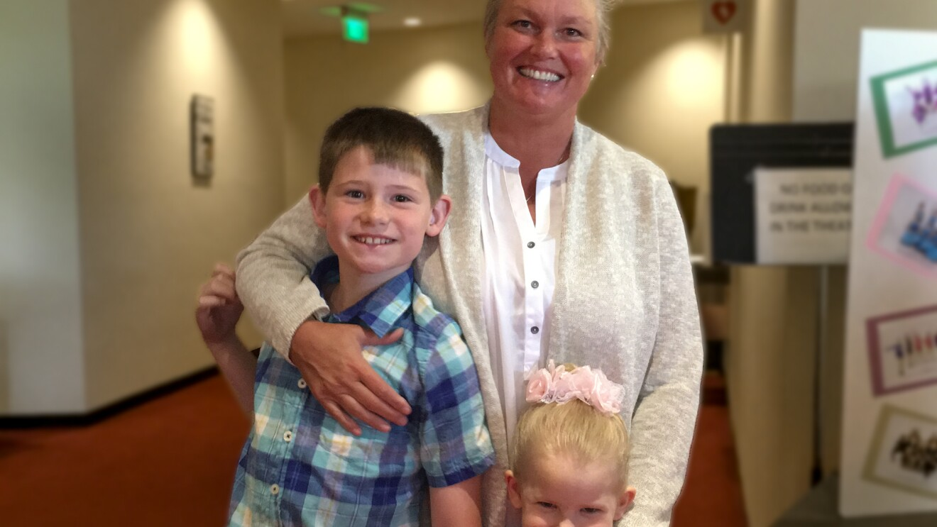 Lisa Dolezal with her children