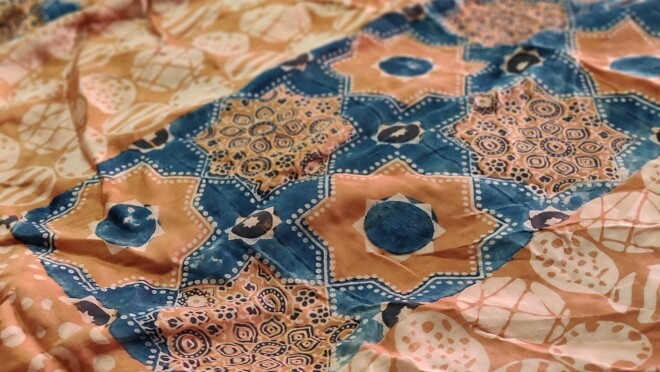 The final fabric Ajrakh