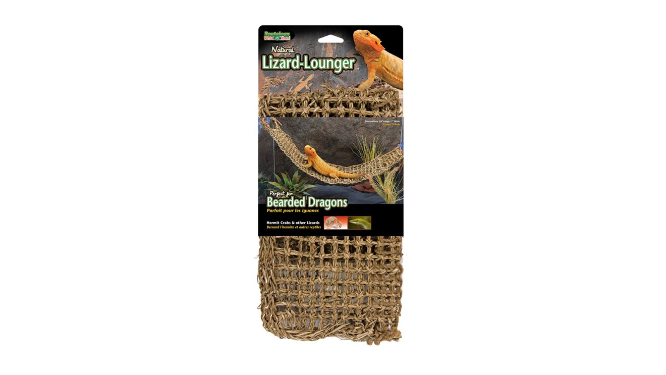 A lizard lounger for bearded dragons and other amphibians