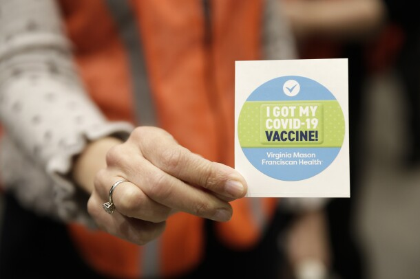 A COVID-19 vaccine clinic hosted on Amazon's Seattle headquarters