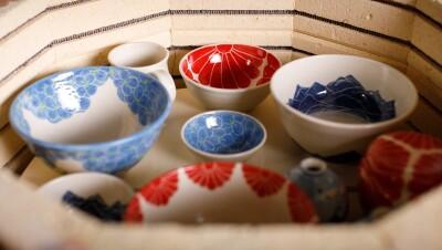 Pottery in a kiln by Amazon Handmade seller Sarah Bak