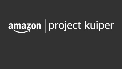 """Amazon logo next to the words """"Project Kuiper"""" in lowercase."""